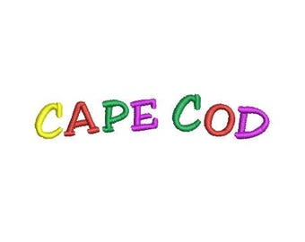 Cape Cod embroidery design