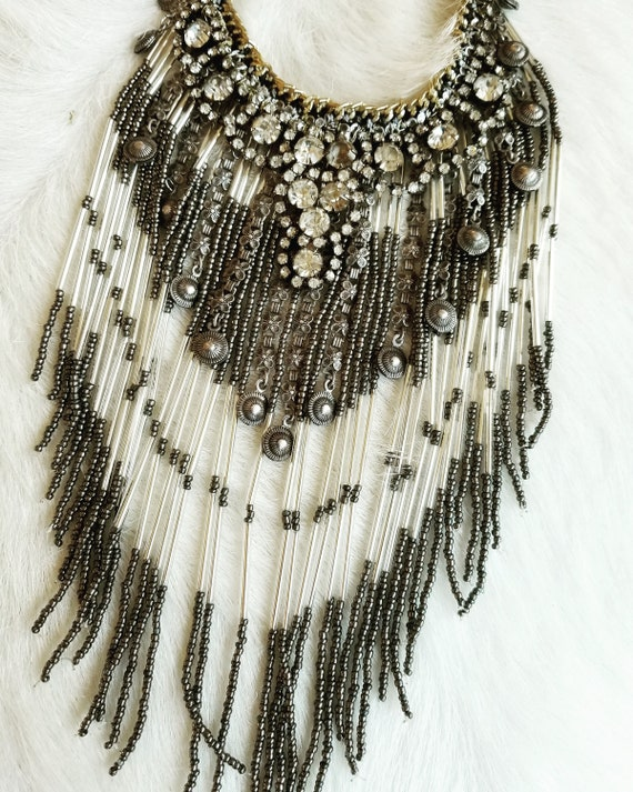Vintage Bohemian Layered Bib Necklace