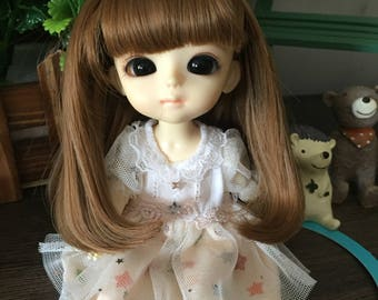 bjd doll long girly wig for lati yellow pukifee doll 16cm 1/8 bjd doll(2 colors)