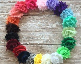 Pick 4 MINI Shabby Chic Headbands, Headband Set, Newborn Headband, Children's Headband, Headband, Baby Headband, Infant Headband