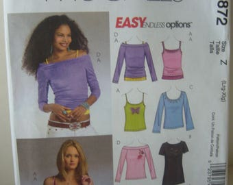 McCall's Knit Top Pattern - McCall's 4872 - Size Large-Extra Large