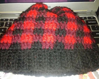 READY TO SHIP* Child Size Buffalo Plaid Hat