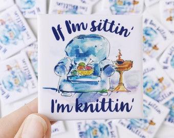 Knitting magnet // knit fridge magnet // yarn magnet // gift for knitters // knit gift // knitting gift // knit magnet // stocking stuffer
