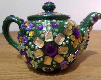 Decorated Teapot Original Artwork Collectible