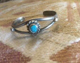 Infants Bracelet NATIVE AMERICAN Sterling Turquoise