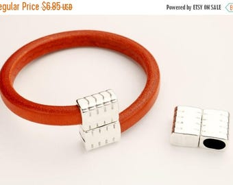HOT DEAL Overlap Textured Clasp - for use with Licorice Leather Cord - Qty. 1