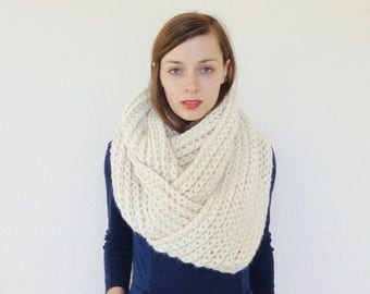 SALE Chunky Knit Infinity Scarf Giant Oversized Circle Scarf Wool | THE CONTINENTAL Giant