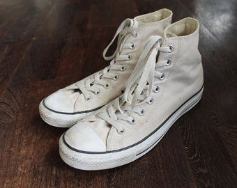 80s Vintage White Converse Sneakers EU43 US9.5 UK9 for Mens size