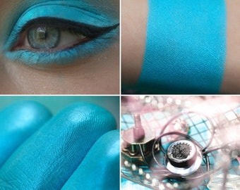 Eyeshadow: Dealer Artifacts - Mermaid. Matte blue eyeshadow by SIGIL inspired.