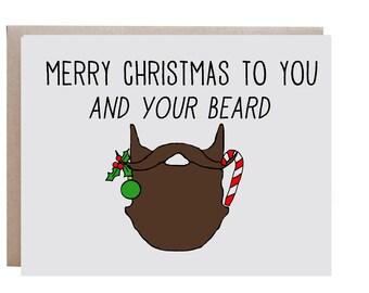 Beard Christmas Card, Merry Christmas, Beard