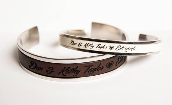 Bracelet couple cuir - Bracelet couple ancre ...