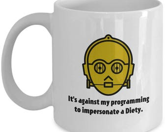 Star Wars C3PO Impersonate Diety Funny Mug Gift Coffee Cup for Nerds