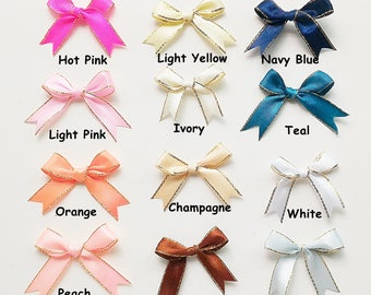 """Pre-tied Satin Bow