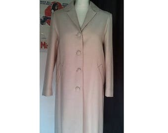 ON SALE 1950 vintage coat wool cream beige off white S