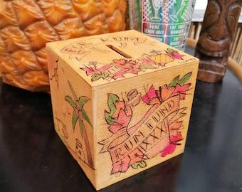 Tiki money box by Clumsy Kate