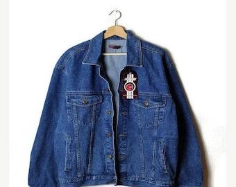 ON SALE Vintage Men's Denim Jacket Blue Denim Jacket /Jean Jacket  from 90's*