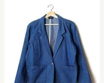 ON SALE Vintage Women's Blue Denim Blazer  from 80's*