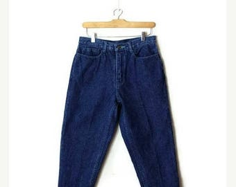 ON SALE Vintage High Waist Denim Tapered Pants/mom's Jeans from 90's/W28*