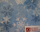 Snow Flakes from the Snowy Friends Collection by Nancy Mink for Wilmington Prints, Quilt or Craft Fabric, Fabric by the Yard