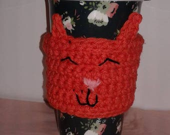 Kitty Cat Eco friendly Coffee cup sleeve coffee cup cozy