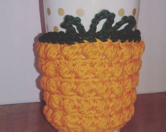 Pineapple inspired coffee cup sleeve coffee cup cozy eco friendly