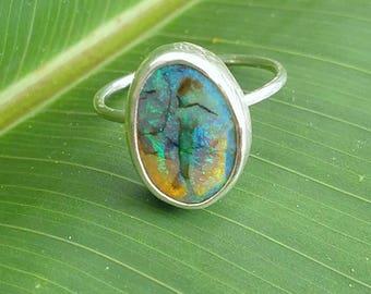 Monarch opal oval ring