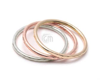50% OFF Hammered Simple Stackable Ring, Wedding Band Ring Available in All Sizes and Color. (GP-12009)