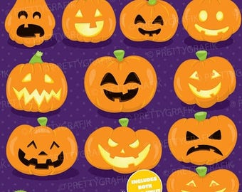 80% OFF SALE Halloween pumpkins clipart commercial use, gymnastic  clipart vector graphics, digital clip art, images - CL921