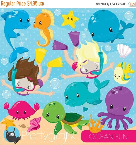 80 off sale snorkeling kids girl clipart scuba diving commercial rh catchmyparty com Ocean Fish Clip Art Cartoon Ocean