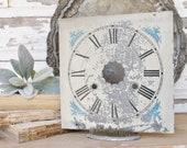 Antique Clock Face Farmhouse Decor Industrial Salvage Fixer Upper Decor Vintage Metal Clock Dial