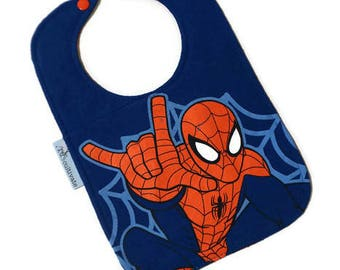 Spider-Man Bib • Superhero Baby Shower Gift • Upcycled Tee Shirt Bib • Spider-Man Tshirt Baby Bib