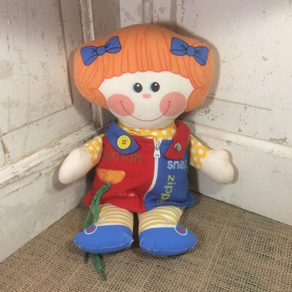Vintage from 1983 Playskool Dressy Bessy doll from 1983, Super vintage Playskool doll, help your child with buttons, tying laces