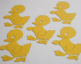 Easter Chicks Die Cut Shapes. Yellow Chicks Easter Scrapbooking, DIY Crafts Classroom Activities, Animal Shapes Farm Crafts, Large Confetti