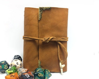 Brown Leather Spell Book- Dungeons and Dragons