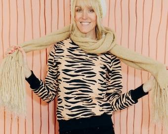 Sweater TIGER STRIPES black pink sweater