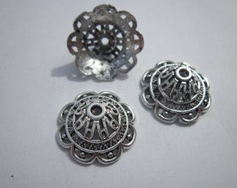 4 large silver metal 18mm (282) cups