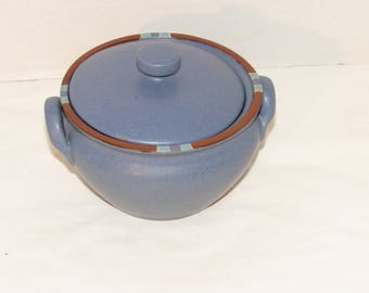 Dansk Sky Blue Mesa Covered Onion Soup Bowl, Dinnerware, Stoneware, Unused, Covered soup / bean bowl, Dining, Stoneware Bowl, Tableware