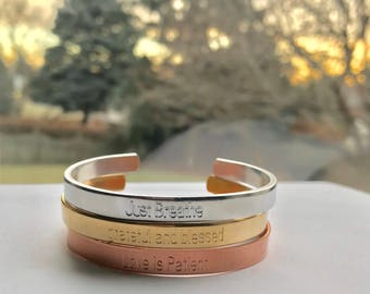 Personalized bracelet for women, Christmas Gift, Coordinate bracelet, Bracelet bar, Wedding gift, Bridesmaid gift, Engraved bracelet