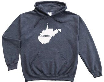 Homeland Tees West Virginia Home Pullover Hoodie Sweatshirt