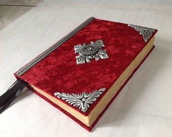 Large Handmade Book of shadows blank spell book / journal /d iary....cert # 245