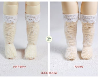 Lati Yellow/ Pukifee - Long Socks - White Color
