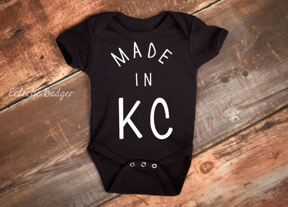 Baby outfit baby gift baby bodysuit kc kansas city made like this item negle Choice Image