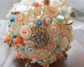 Seashore Dreams Button Bouquet