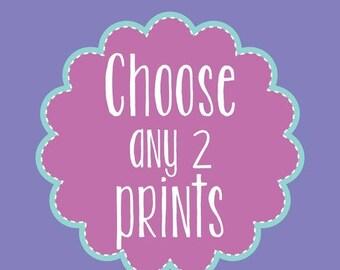 Nursery Wall Decor Home Decor Prints Mix and Match Choose Your Size Any Two Prints Nursery Art Wall Art Kids Room Decor Digital Art Prints