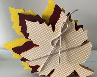 Wooden Stacked Leaves