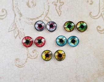 12mm,  Dragon Eye , Cat Eye Locket Jewelry.     #ZO-12