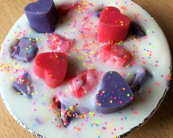 Birthday bash scented soy wax melt mini pie