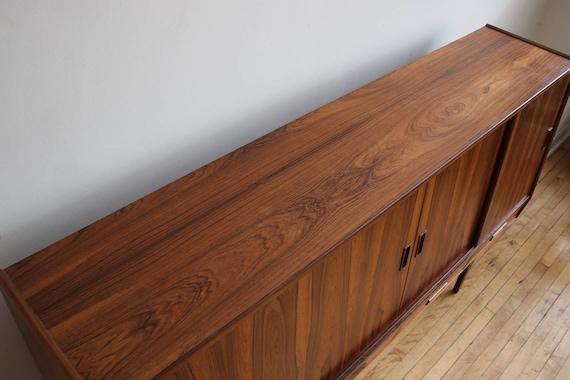 Mid Century Danish Modern Brazilian Rosewood Sideboard By Westergaard