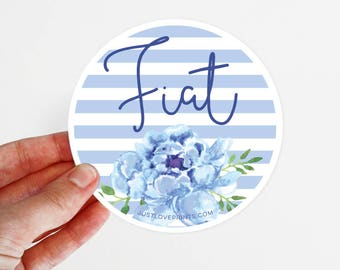 Mary's Fiat | Car Magnet | 3.5 x 3.5 in