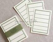 Classiky Green Border Blank Letterpress Note Cards